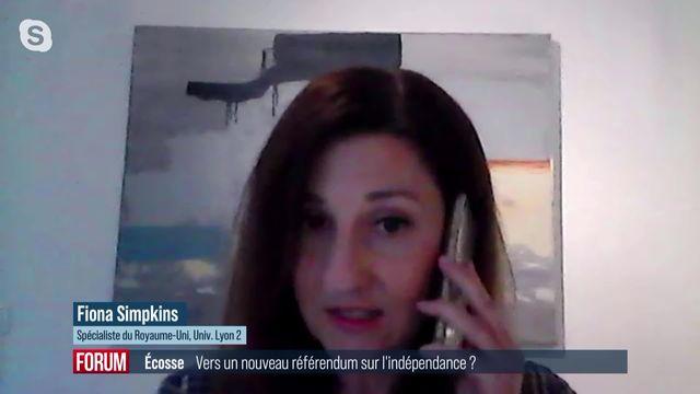 Vers un nouveau référendum écossais sur l'indépendance ? Interview de Fiona Simpkins [RTS]