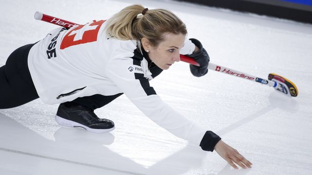 La skip Silvana Tirinzoni continue de mener la Suisse vers les sommets du curling mondial. [Jeff McIntosh - Keystone]