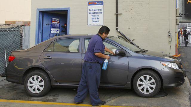 Une agence de location de voitures à Los Angeles. [AP Photo/Amy Sancetta - Keystone]
