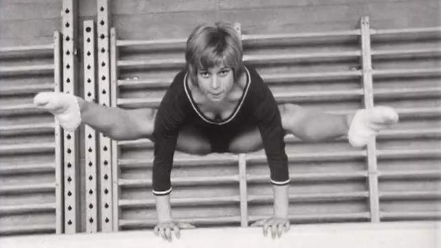 Gymnaste à Macolin en 1971 [RTS]