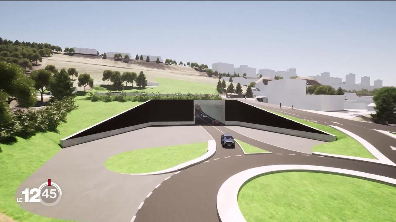 Le nouveau contournement de La Chaux-de-Fonds a été présenté ce matin. Il devrait voir le jour d'ici à 2026. [RTS]