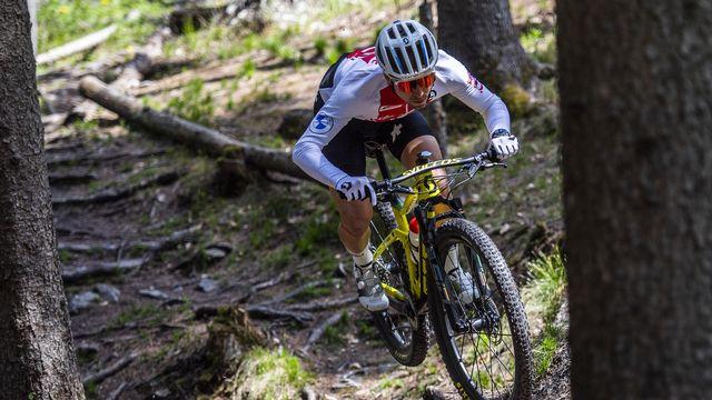 Nino Schurter a lancé sa saison avec un podium en Allemagne. [Gian Ehrenzeller - Keystone]