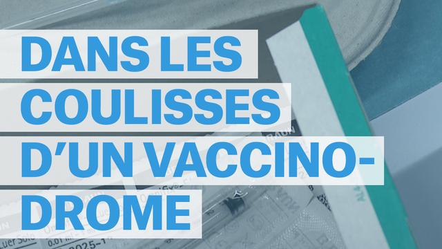 Dans les coulisses du vaccinodrome de Beaulieu, à Lausanne. [RTS]