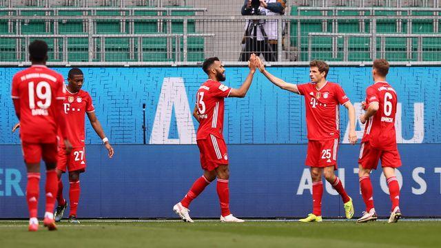 Davies, Alaba, Choupo-Moting, Müller ou Kimmich peuvent déjà sourire. Malgré l'échec en Ligue des champions, le Bayern goûte à un nouveau trophée. [Martin Rose - EPA]