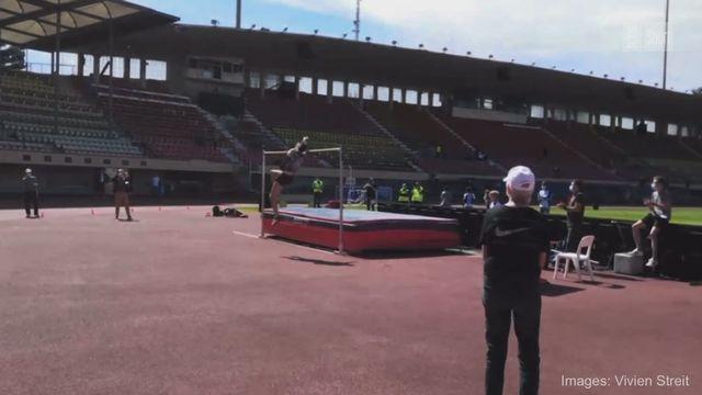 Athlétisme: Loïc Gasch, minimas pour les JO et record de Suisse (2m33)! [RTS]
