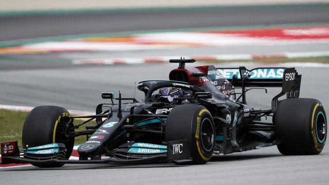 Lewis Hamilton, encore vainqueur. Pour la 98e fois de sa carrière. [Joan Monfort - AP]