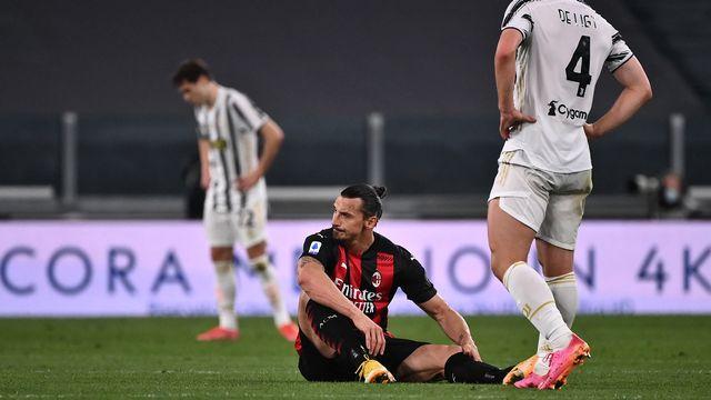 Zlatan Ibrahimovic est apparu dépité au moment de sa blessure. [Marco Bertorello - AFP]