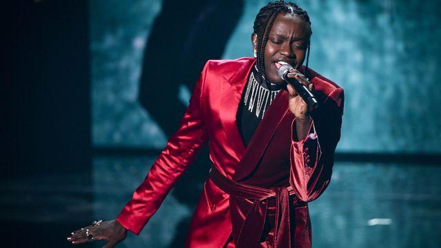 Tusse (Tousin Chiza) est le représentant suédois pour l'Eurovision 2021. [Henrik Montgomery - AFP]