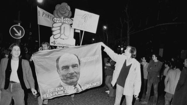 Élection de François Mitterrand en 1981. [Paul Chiasson - Keystone]