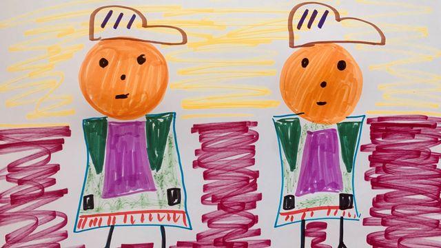 """""""Être jumeaux ou jumelles"""", un dessin réalisé par Loïc. [Loïc ]"""