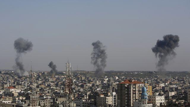 "Israël va ""intensifier"" ses attaques contre le Hamas, selon Netanyahu. [Hatem Moussa - Keystone]"