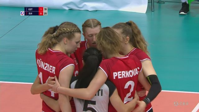 Volleyball - Qualifications Euro Dames: Estonie - Suisse 2-3 (25-18 19-25 15-25 25-23 14-16) [RTS]