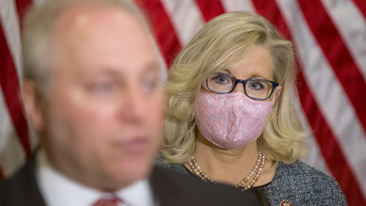 Liz Cheney, actuelle no. 3 du parti républicain américain. [Michael Reynolds - Keystone/EPA]