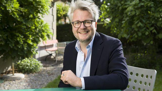 Dani Landolf, nouveau directeur des Journées Littéraires de Soleure. [Gaetan Bally - Keystone]