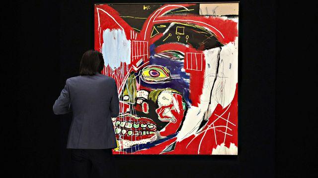 """Le tableau """"In This Case"""" de Jean-Michel Basquiat a été vendu 93,1 millions de dollars. [Cindy Ord - Getty Images via AFP]"""
