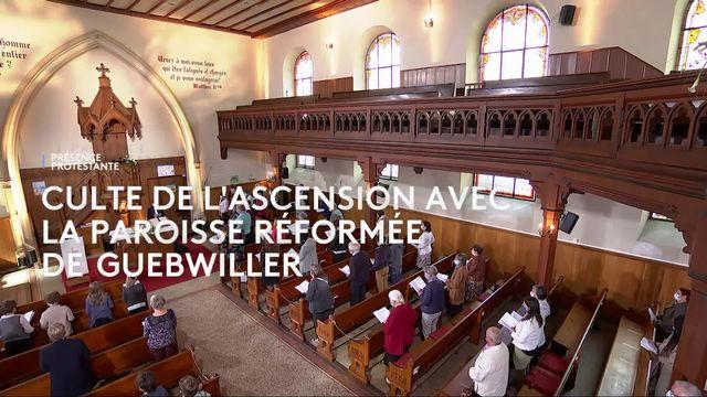 Culte de l'Ascension en Eurovision avec l'Église Protestante Réformée de Guebwiller, France [RTS]