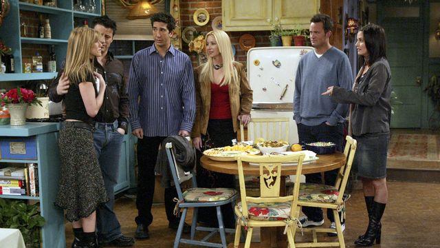 """L'épisode spécial de """"Friends"""" arrive le 27 mai, avec Justin Bieber et Lady Gaga. [Danny Feld - Keystone/AP]"""