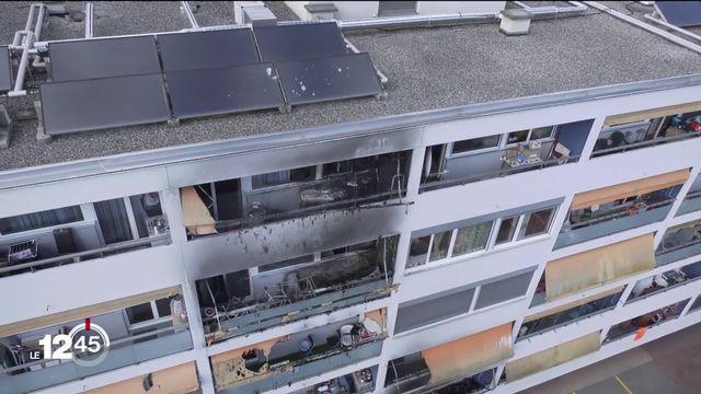 7 personnes ont été blessées dans un incendie à Meyrin (GE) [RTS]