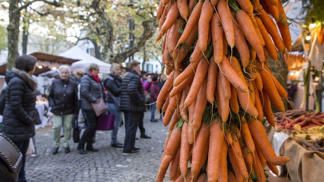 Les carottes sont le légume préféré des Suisses. [Alexandra Wey - Keystone]