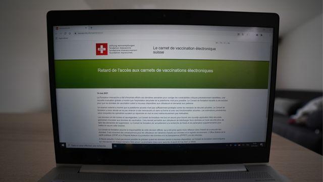 La plateforme mesvaccins.ch reste fermée à cause de défaillances en termes de sécurité. [mesvaccins.ch]