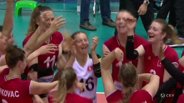 Suisse – Estonie (25-15, 23-25, 25-17, 25-22) : victoire des Suissesses en 4 sets [RTS]