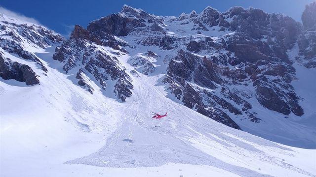 Deux alpinistes meurent dans une avalanche au Piz Russein dans les Grisons. [Kantonspolizei Graubünden]