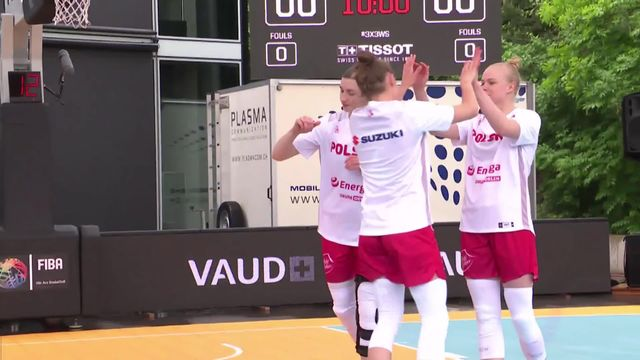 3x3 dames, Suisse – Pologne (18-21): la Suisse s'incline [RTS]