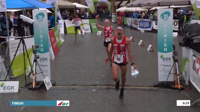Knock out sprint, finale messieurs : Matthias Kyburz (SUI) l'emporte devant son compatriote Joey Hadorn [RTS]