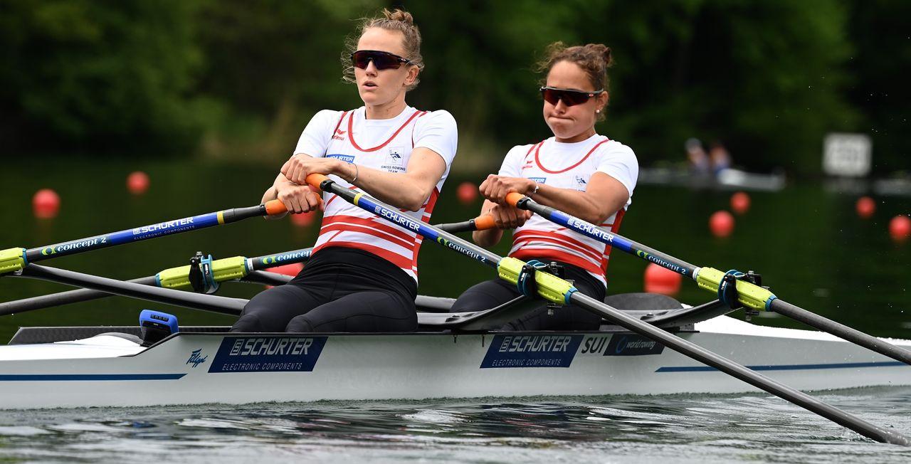 Le duo Rol-Merz ont dissipé les doutes sur leur état de forme pour foncer vers les demi-finales. [Detlev Seyb  - Swiss Rowing]