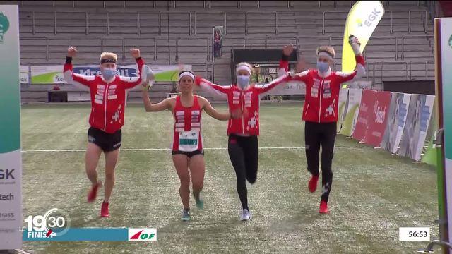 Aux championnats d'Europe de course d'orientation, format sprint, les Suisses ont remporté trois médailles devant leur public [RTS]