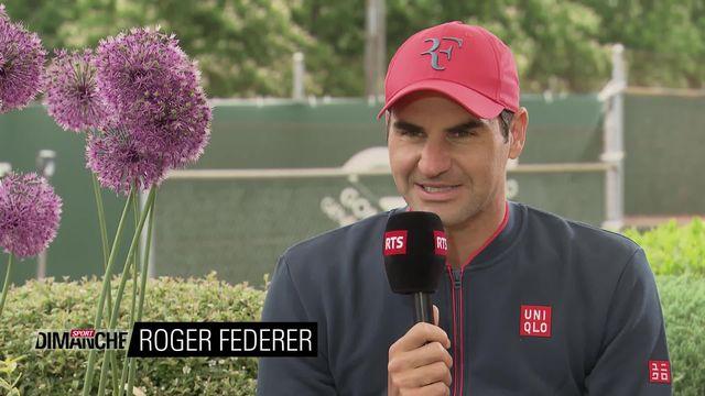 Tennis: l'interview de Roger Federer [RTS]