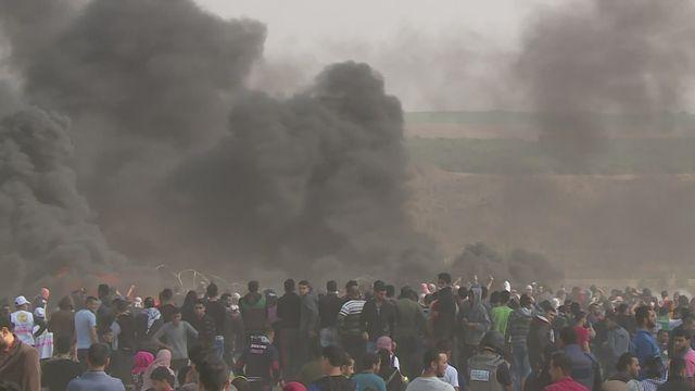 Contestation à Gaza à l'approche de l'anniversaire de la création d'Israël. [RTS]