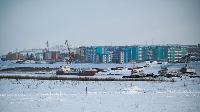 Le port russe de Dudkinka, situé au-delà du cercle polaire en Sibérie. [Vladimir Astapkovich - Sputnik/AFP]