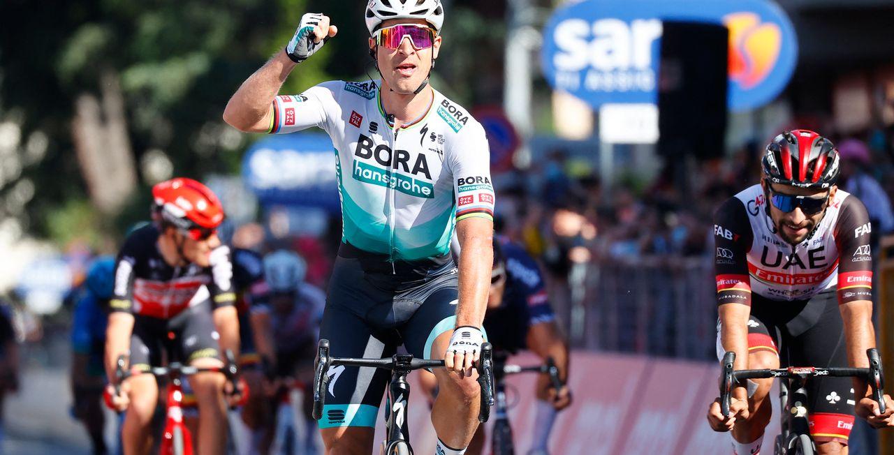 Peter Sagan conclut victorieusement cette 10e étape. [Luca Bettini - AFP]