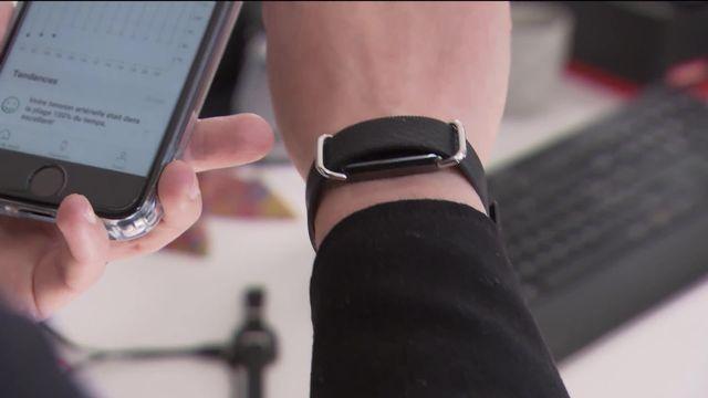 La santé connectée stimule l'innovation. Une startup neuchâteloise lance un bracelet qui mesure l'hypertension [RTS]