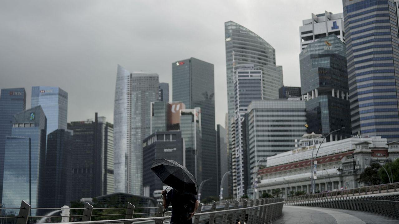 Le WEF 2021 aurait dû se tenir en août dans la Cité-Etat asiatique. [Wallace Woon - EPA/Keystone]