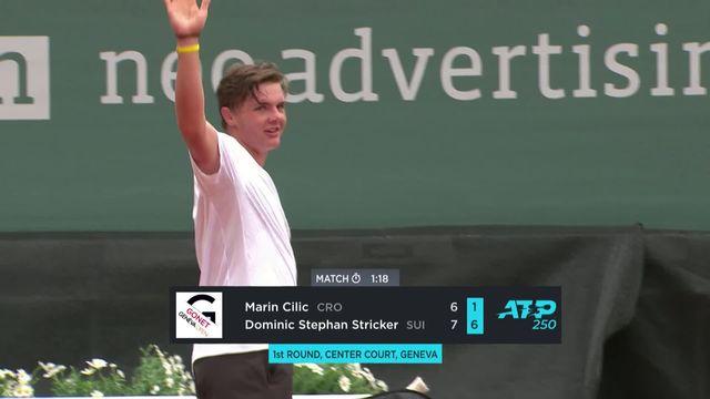 1er tour, M.Cilic (CRO) - D.Stricker (SUI) (6-7, 1-6): premier tournoi ATP et première victoire pour Stricker ! [RTS]