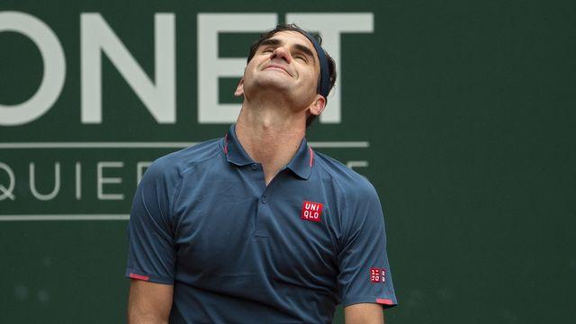 Le dépit de Roger Federer... [Salvatore Di Nolfi - EPA]