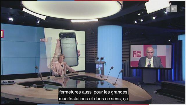 Alain Berset interviewé dans l'émission Forum. [RTS]