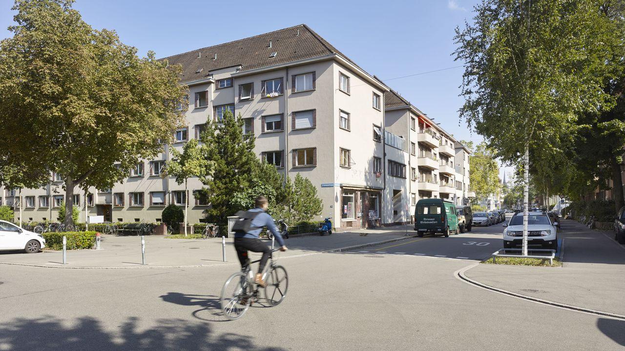 Un quartier d'immeuble à Zurich, photographié ici le 18 septembre 2019. [Christian Beutler - Keystone]