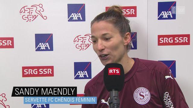 Women's Super League: Sandy Maendly (Servette) à l'interview [RTS]