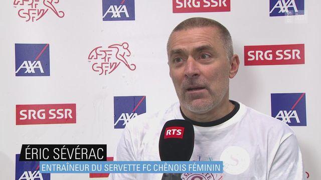 Women's Super League: Eric Sévérac (Servette) à l'interview [RTS]