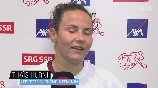Women's Super League: Thaïs Hurni (Servette), à l'interview [RTS]