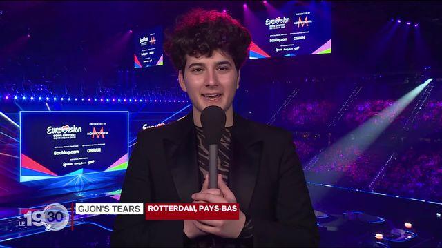 Le Fribourgeois Gjon's Tear, candidat suisse à l'Eurovision: ses attentes à Rotterdam juste avant les demi-finales [RTS]