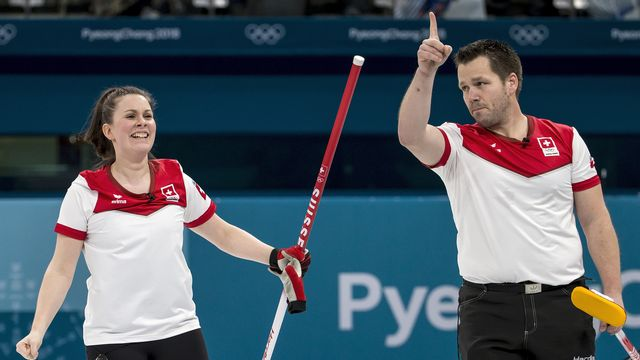 Jenny Perret et Martin Rios avaient décroché l'argent à PyeongChang en 2018. [Alexandra Wey - Keystone]