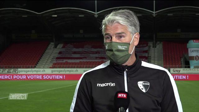 36e journée, Sion - Bâle (4-0): l'interview de Marco Walker [RTS]