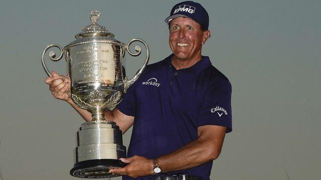 Phil Mickelson est devenu le plus vieux gagnant d'un tournoi du Grand Chelem. [Matt York - Keystone]