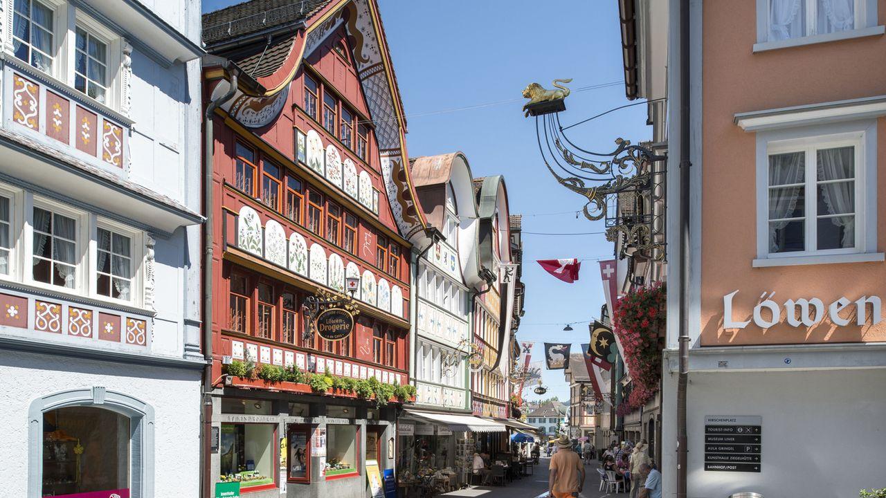 Une vue de la rue principale d'Appenzell. [Christian Beutler - Keystone]