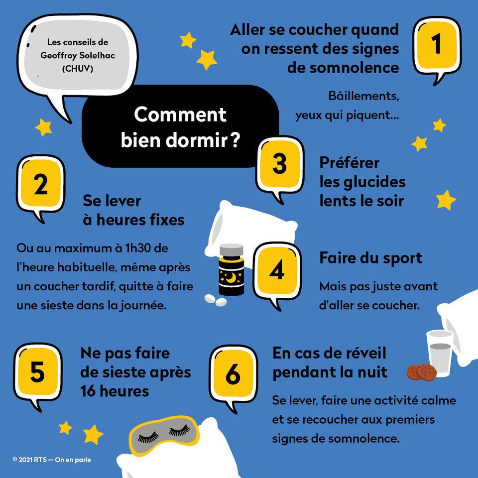 Les conseils de Geoffroy Solelhac pour passer une bonne nuit de sommeil. [On en parle - RTS]