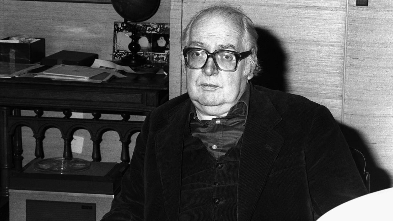 L'écrivain suisse Friedrich Dürrenmatt. Ici en 1980. [Keystone]